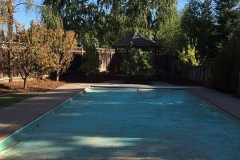 pool towards gazebo