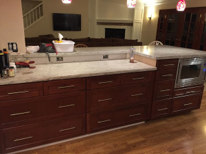 bar countertop is here
