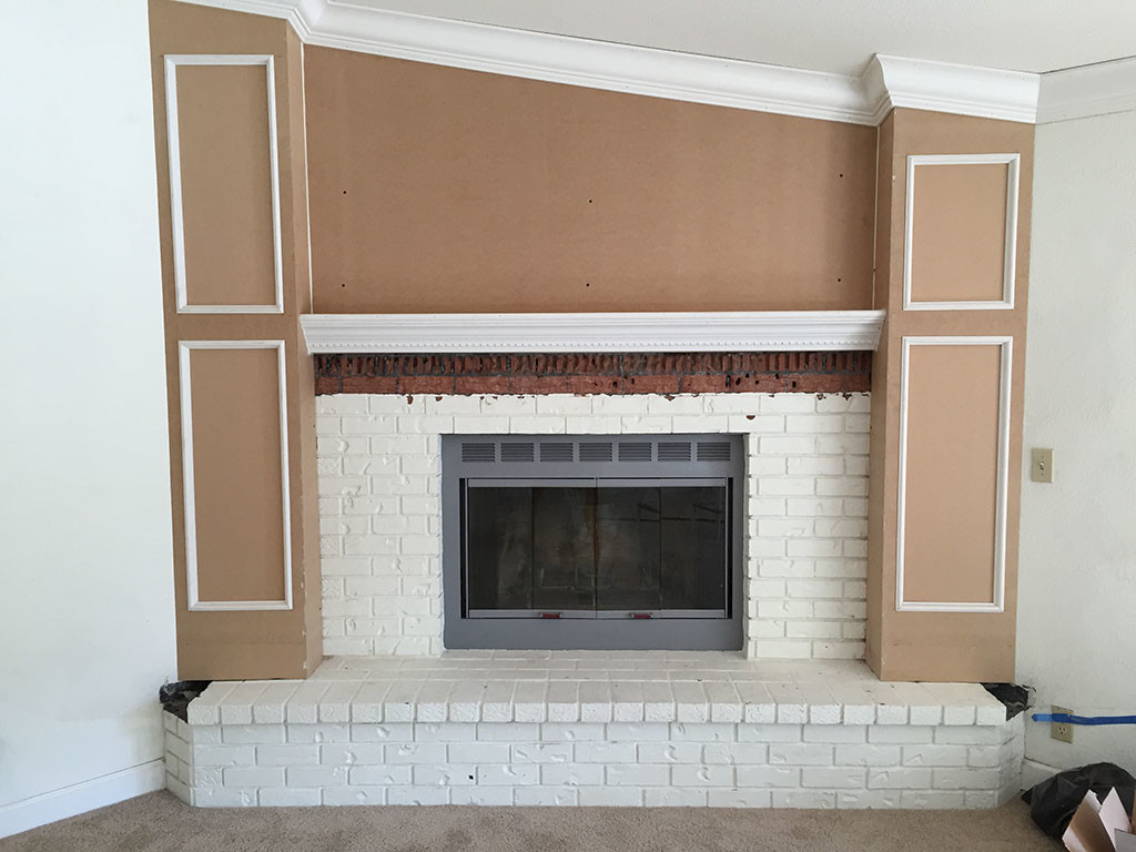 Fireplace with carpentry