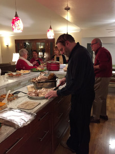 Rich carving the turkey