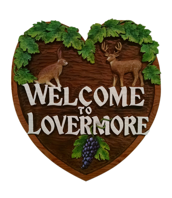 Lovermore sign white background